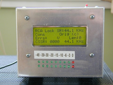 Digital Audio Monitor LCD display