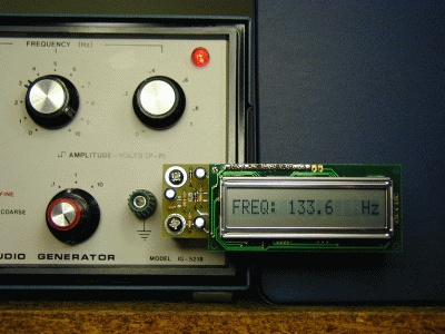 FreqShow Function Generator Frequency Display direct-mount to terminals