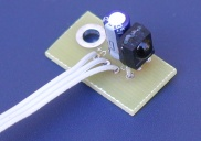 Vishay IR module mounted on Remote Sensor2 pc board